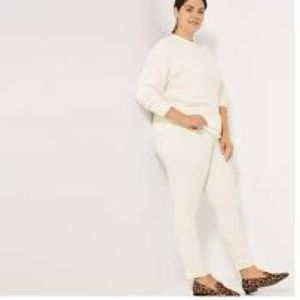 2/$40 JOE FRESH PLUS COTTON TWILL JEANS OFF WHITE